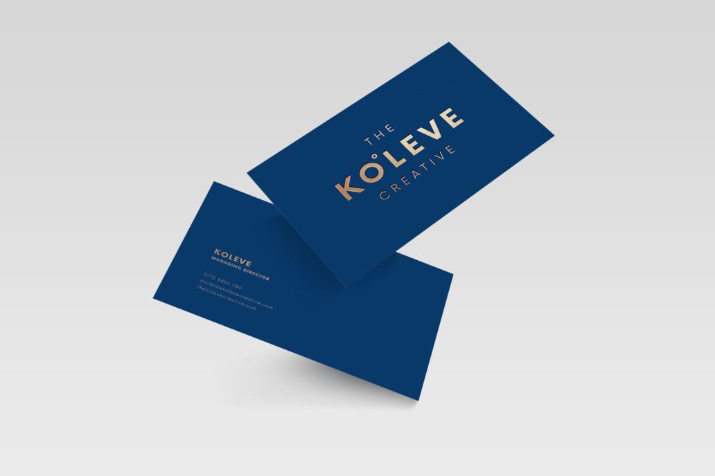 Koleve creative agency branding creative design studio business card designcreative agency colourmoves
